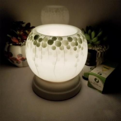Đèn xông tinh dầu mini tặng 01 lọ tinh dầu sả chanh 5ml NuCare và 01 bóng đèn dự phòng: