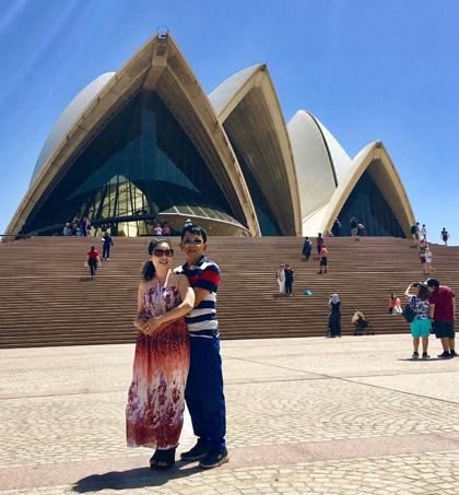 Sang Australia một tháng, bà Nhàn thấy cuộc sống ở nước ngoài không đáng sợ như bà nghĩ. Ảnh: NVCC.