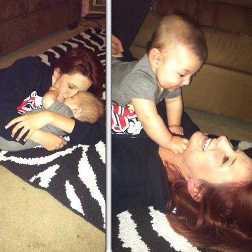 Heather và con trai Lukas chỉ có 7 tháng bên nhau. Ảnh: CBS News.
