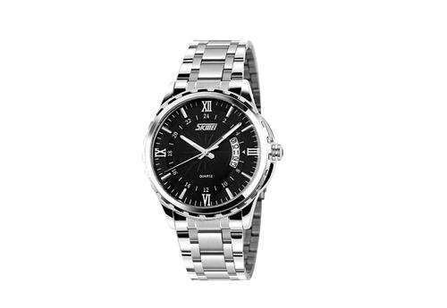 Thay vì giá gốc 449.000 đồng, đồng hồ nam Skmei NTS032 (bạc mặt đen) có giá bán trong khung giờ khuyến mãi là 288.000 đồng. Vớidây và vỏ máy làm bằng chất liệu hợp kim thép chống gỉ, mặtbằng kính khoáng cường lực cao cấp, sản phẩm được bảo hành 12 tháng.