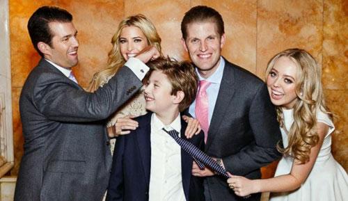Các con của Trump đều dành cho cha sự kính trọng đặc biệt. Ảnh: FameFlynet.