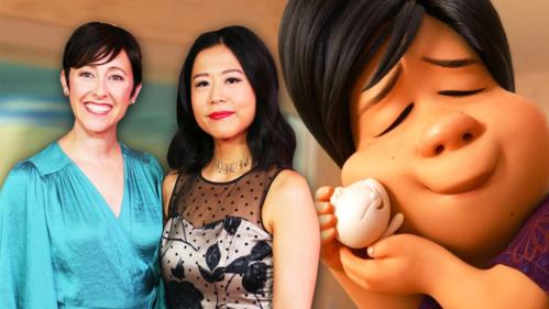 Đạo diễn Shi Zhiyu (váy đen) được trao giải phim hoạt hình ngắn xuất sắc qua bộ phim tái hiện cách nuôi con bao bọc của cha mẹ Trung Quốc. Ảnh: Sina.