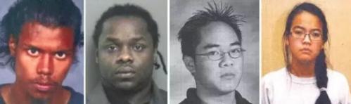 Jennifer (ngoài cùng phải) đã thuê côn đồ giết cha mẹ. Ảnh: Sina.