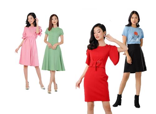Sáu mẫu áo thun thiết kế thanh lịch của thương hiệu thời trang công sở Eden ưu đãi còn 83.000 đồng từ giá gốc 139.000 đồng. Họa tiết cùng chất liệu vải của áo phù hợp diện trong môi trường văn phòng khi kết hợp cùng chân váy hoặc quần kaki.