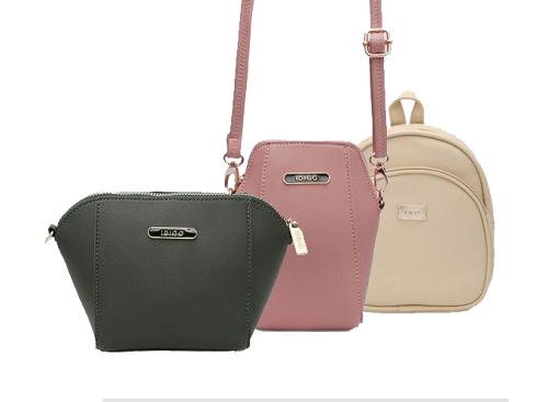 Túi đeo chéo chất liệu da từ Idigo có giá khuyến mại 83.000 đồng. Sản phẩm với sáu lựa chọn màu sắc thời trang như hồng pastel, đỏ mận... dễ dàng kết hợp cùng váy lụa lẫn set đồ denim.