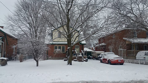 Mùa đông tuyết dày tại khu vực chị Như sống ở Ontario, Canada. Ảnh: Trần Như.