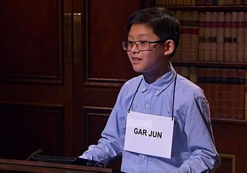 Gar Jun 11 tuổi đã vượt qua nhiều người hơn tuổi khác giành vị trí đứng đầu. Ảnh: The Sun.