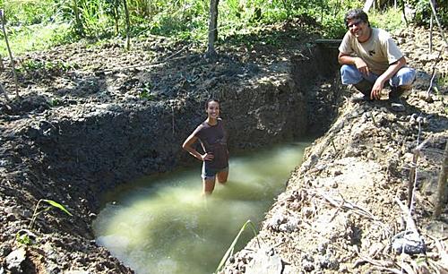 Sarah dùng nước mưa tích trữ một cách tự nhiêncho mọi sinh hoạt cuộc sống. Ảnh: Metro.