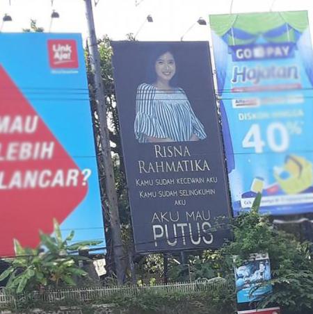 Chàng trai Indonesia in ảnh bạn gái và nói lời chia tay vì bị cắm sừng.