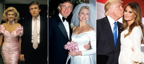 Ba người vợ của Donald Trump đều ký hợp đồng tiền hôn nhân.