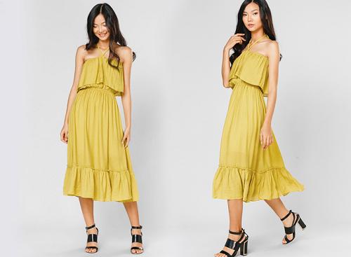 Váy maxi cách điệu Lilya có 2 kiểu mặc
