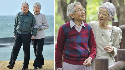 Hình ảnh tình cảm của hai vợ chồng Nhật hoàng khiến nhiều người ngưỡng mộ. Ảnh: Their Majesties the Emperor and Empress of Japan