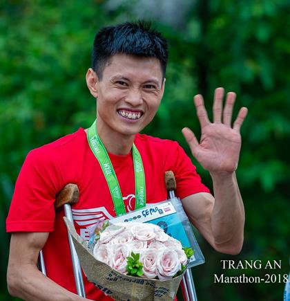 Nguyễn Đình Đang đang trên hành trình truyền động lực sống đến cho nhiều người. Ảnh: NVCC.