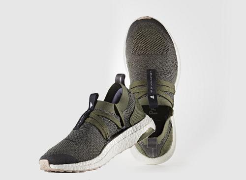 Adidas Ultra Boost by Stella Maccartney (CG3685) thiết kế dựa trên hệ thống ARAMIS. Thiết kế sock-like giúp thân giày mềm mại và dẻo dai như một đôi tất, cùng công nghệ dệt Primeknit giúp UltraBoost X thích nghi với sự thay đổi hình dáng bàn chân lúc khi vận động.Kết cấu Primeknit bao trọn vòm bàn chân để trợ lực, mở rộng phần mũi chân, giúp chân thoáng khí và thoải mái hơn. Giá 3,672 triệu đồng (giá gốc 7,19 triệu đồng).