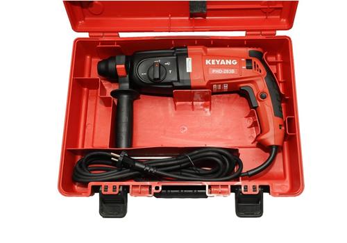 Máy khoan đa năng Keyang PHD-283B nhập khẩu chính hãng Hàn Quốc từ thương hiệu Keyang. Công suất800W với đa chức năng khoan: Khoan đá, bê tông, sắt, kim loại, gỗ. Đường kính khoan tối đa 28mm. Tốc độ không tải: 1.100 vòng/phút. Sản phẩm được bảo hành chính hãng trong 6 tháng.Giá ưu đãi: 2,862 triệu. Giá gốc: 3,49 triệu.