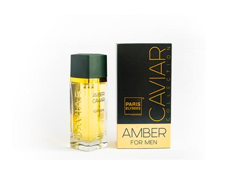 Nước hoa Amber Caviar với hương đầu từ cam Bergamot, hương biển, hương giữa từ hoa oải hương, cây xô thơm, hương cuối xạ hương trắng, gỗ đàn hương và hương rêu.