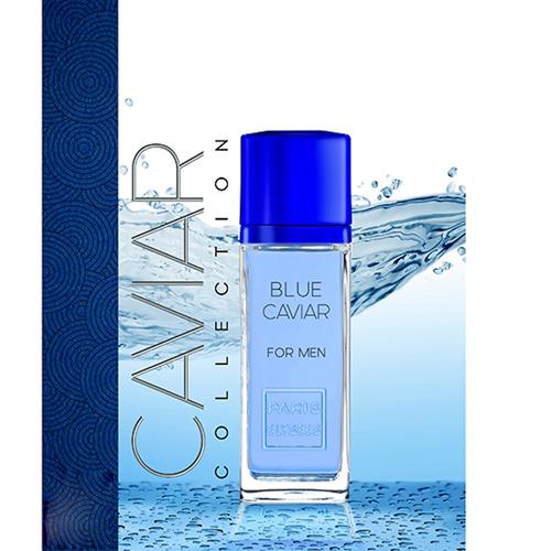 Thuộc nhánh mùi Aromatic Fougere (nhóm hương dương xỉ), nước hoa Blue Caviar có mùi hương đầu từ quả chanh vàng, cam Bergamot, hương giữa từ cây xô thơm và hoa oải hương, lớp hương cuối từ gỗ tuyết tùng và đậu tonka.