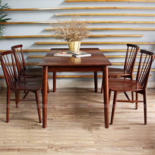 Bộ bàn ăn 4 ghế IBIE Requin màu walnut 5.570.700đ9.220.000đ