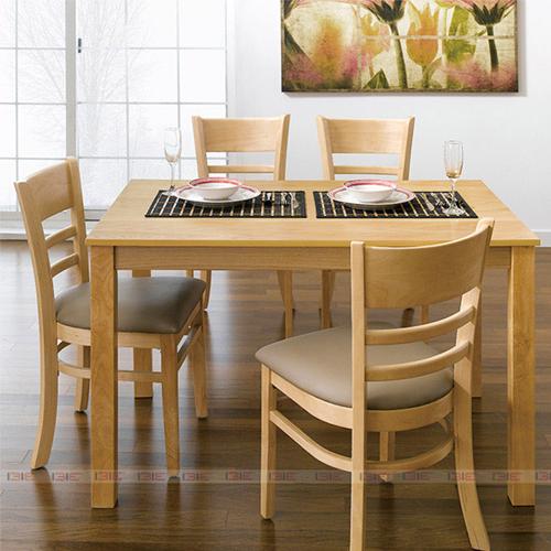 Bộ bàn ăn 4 ghế IBIE Ulsan màu tự nhiên 2.966.700đ4.910.000đ
