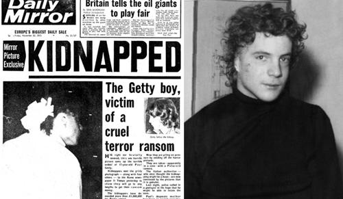 Vụ bắt cóc cháu trai triệu phú được nhiều báo đăng tải thời điểm đó. Ảnh: Mirror.