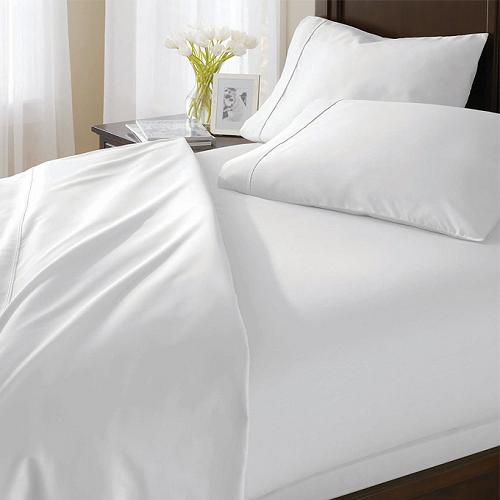 Bộ drap vải trắng trơn Hàn Quốc 100% cotton Satin 160cm x 200cm