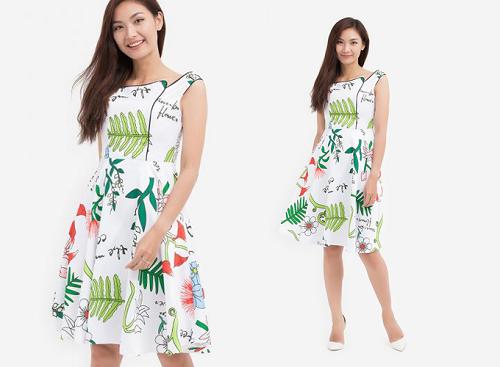 Đầm xòe Amun DX156 giá 539.000 đồng trên Shop VnExpress.