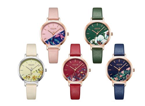 Đồng hồ nữ JA-1089 Julius Hàn Quốc dây da (5 màu)