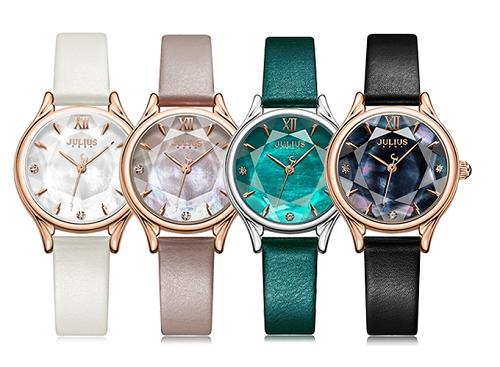 Đồng hồ nữ JA-1154 Julius Hàn Quốc dây da (nhiều màu)