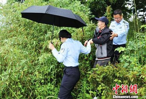 Ông Jiang vẫn nhận ra nơi chôn cất bố dù không còn con sông đổ ra biển, thay vào đó là cây cối um tùm. Ảnh: China News.