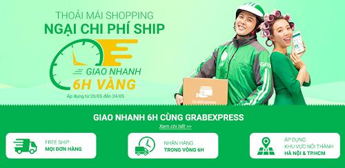 Chương trình giao nhanh 6 giờ, miễn phí vận chuyển trên Shop VnExpress diễn ra từ nay đến hết 24/5.