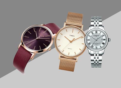 Đồng hồ nam nữ thương hiệu Timex, Carnival, Julius... miễn phí vận chuyển.