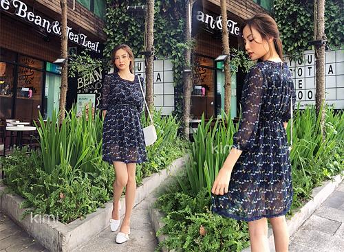 Đầm voan phối ren mang đến cảm giác thoải mái, nhẹ nhàng cho bạn gái trong cái nóng khắc nghiệt của mùa hè.