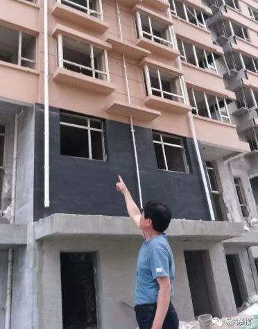 Tòa chung cư đang hoàn thiện dở, nơi cô Tao gặp nạn. Ảnh: Sohu.