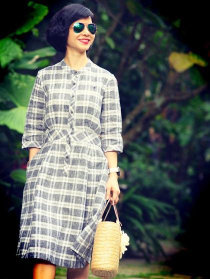Chị Hạnh đang sống tại một khu đô thị nhiều cây xanh ở ngoại thành Hà Nội. Ảnh: K.H.
