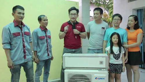 Anh Phước Huy cùng gia đình có  điều hoà mới cho mùa hè 2019.
