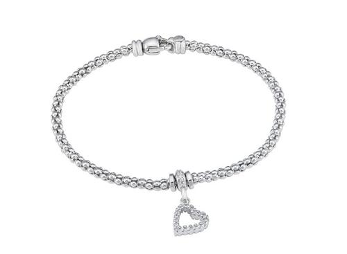 Lắc tay bạc Ý đính đá PNJSilver XMXMK060010
