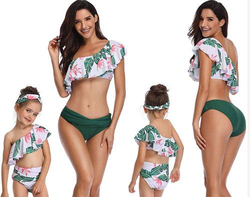 Áo tắm đôi cho mẹ và con gái đi biển ngày hè  - 5