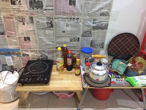 Căn bếp nhỏ đơn giản của của tôi.