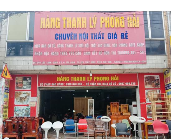 Cửa hàng thnah lý Phong Hải.
