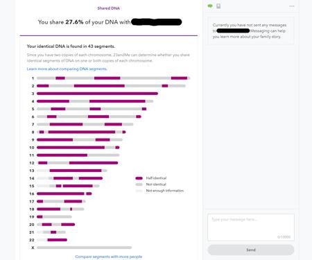 David chia sẻ bản kết quả xét nghiệm ADN có quan hệ huyết thống với bạn gái để chứng minh câu chuyện mình kể là thật. Ảnh: Reddit.