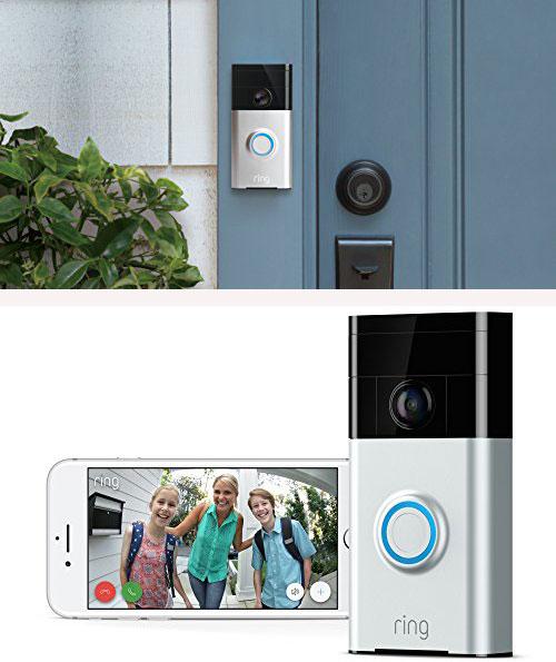Ring Video Doorbell - chuông cửa thông minh: Sản phẩm cho phép người sử dụng quan sát khách đến nhà 24/7 thông qua điện thoại, máy tính bảng dù đang ở nhà hay không. RingVideo Doorbell sử dụng camera 720p HD với công nghệ hồng ngoại, hình ảnh sắc nét, sáng rõ, có thể nhìn vào ban đêm. Ngoài ra, chiếc chuông nàysử dụng kết nối Wi-Fi, giúp cài đặt dễ dàng. Chủ nhà còn có thể trao đổi hai chiều với khách bấm chuông qua loa và microphone tích hợp sẵn.Những dụng cụ cần thiết để lắp đặt bộ chuông cửa thông minh đều có sẵn trong hộp đựng sản phẩm. Đặc biệt, mặt chuông cửa được gắn chặt bằng con ốc chỉ có tuốc nơ vít đi kèm mới có thể vặn được, hạn chế mất cắp. Ring Video Doorbell giá hơn 2,9 triệu đồng.