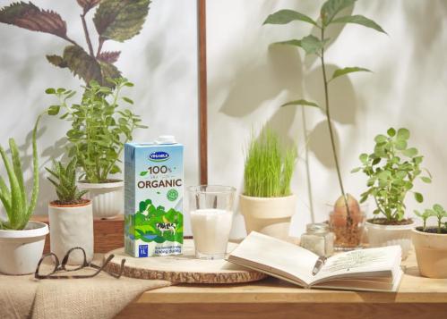 Sản phẩm sữa tươi organic Vinamilk.