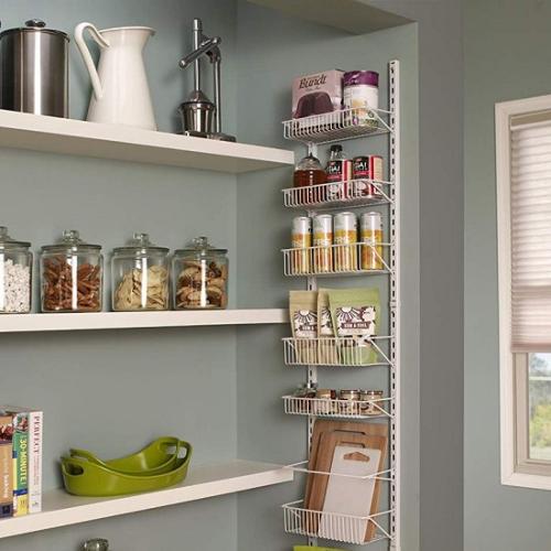 Adjustable Wall and Door Rack (Giá để đồ): Hãy gắn cái giá để đồ này vào một cánh cửa hoặc một bức tường. Nó sẽ phát huy công dụng giúp bạn cất đồ hộp, đồ ăn nhẹ một cách gọn gàng và dễ thấy. Ngoài ra, bạn cũng có thể gắn cái giá này trong phòng vệ sinh và dùng nó để đựng khăn tắm, giấy vệ sinh... Sản phẩm này có 2 kích cỡ với chiều dài và chiều rộng khác nhau, có thể điều chỉnh phù hợp mục đích sử dụng của bạn.