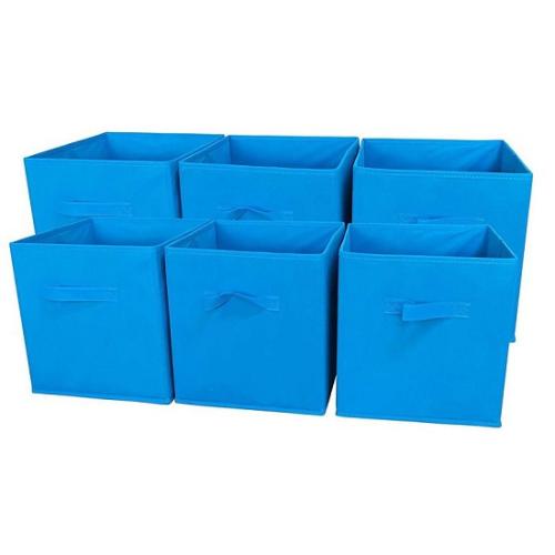 Foldable Cloth Storage Cube Bins Organizer (thùng vải lưu trữ): Với 9 màu khác nhau, những thùng chứa đồ này là sản phẩm giúp làm gọn và thêm những màu sắc vui nhộn cho căn phòng của bạn. Nhiều khách hàng đã khen ngợi sự chắc chắn và chất lượng cùng mức giá hời của các sản phẩm này.