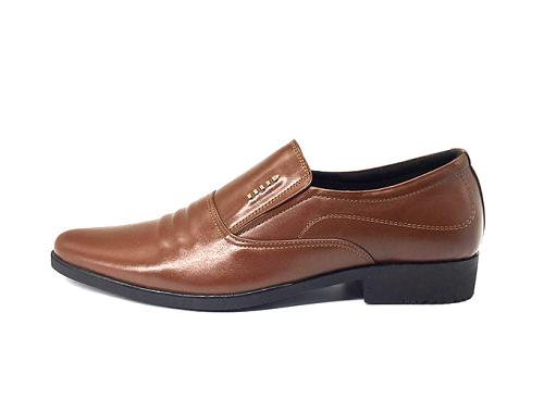 Giày lười công sở nam da bò cao cấp N1621M(nâu) Lucacy