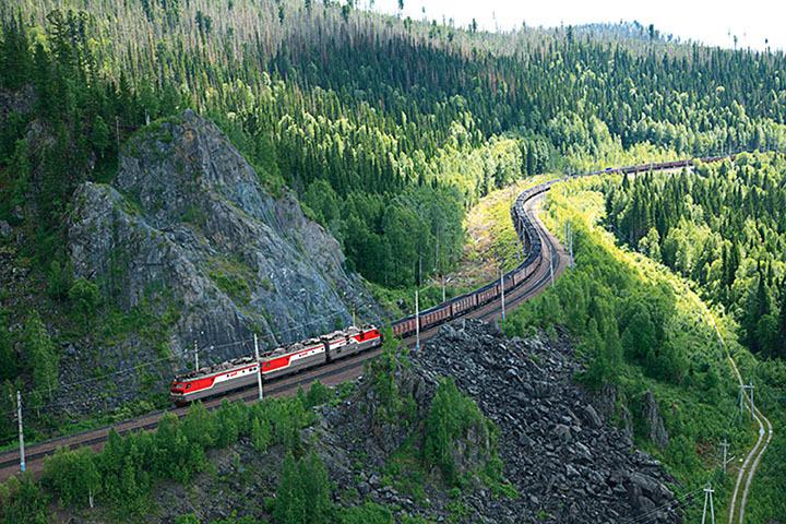 Tuyến đường sắt xuyên Siberi mà Maru đã được đưa lên rồi bỏ trốn. Ảnh: Siberiantimes.