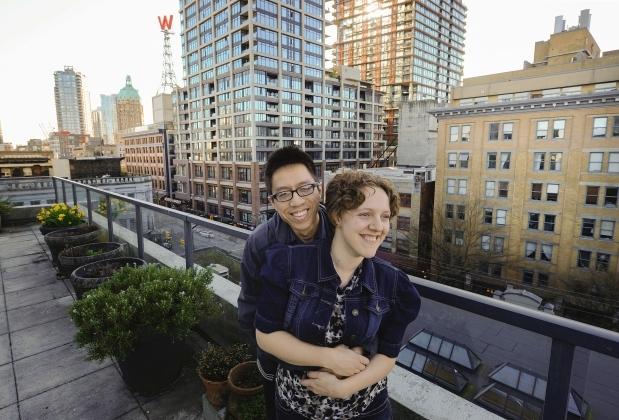 Vợ chồngStephanie và Celestian. Ảnh: Globalnews.