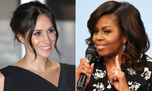 Nàng dâu Hoàng gia Anh Meghan gửi câu hỏi cho bà Michelle Obama trước khi cô sinh con trai. Ảnh:Independent.