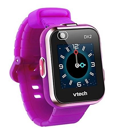 VTech Kidizoom Smartwatch DX2: Đồng hồ trang bị hai camera, cho phép người dùng chụp ảnh selfie, cài làm hình nền. Trẻ có thể chụp ảnh bản thân, gửi cho bố mẹ, báo rằng mình đang ở đâu và gặp phải tình trạng gì. Thiết bị cótrò chơi điện tử đơn giản cho bé giải trí, tích hợp cảm biến chuyển động. Giá cho sản phẩm này là 1,275 triệu đồng.