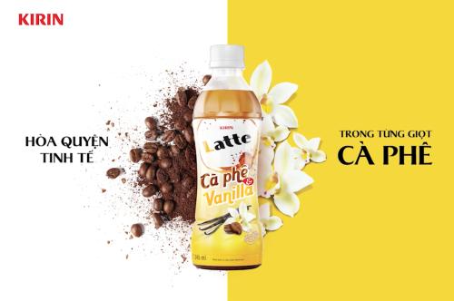 KIRIN Latte Cà Phê & Vanilla là một trong những sản phẩm cà phê đóng chai tiện dụng mới của tập đoàn.